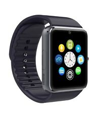 Black GT08 Bluetooth Smart Watch for iPhone 4s & iOS system Silicon Rubber