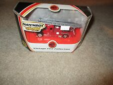 Matchbox Collectibles Vintage Fire Collection Red Ladder Truck 2001 MIB