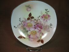 Schumann Arzberg German Porcelain Three-pointed Wall Plate Wild Rose Gold Trim