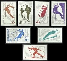 Romania Winter Games Sport Alpine Skiing Jumping Bobsleigh Imperforated ** 1961