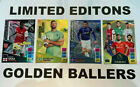 ADRENALYN XL PREMIER LEAGUE 2021/22 PANINI LIMITED EDITIONS - GOLDEN BALLERS <br/> LENTICULAR - ELITE- HERO - FIRE - ICE - CLUB BADGES
