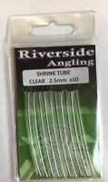 Shrink Tube Clear 2.5mm x10 Ronnie Rigs Sleeves Carp Pike Fishing