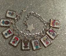 Silver Plated Charm Bracelet LOL L.O.L Surprise Doll Queen Bee Teachers Pet Diva