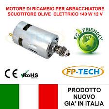 MOTORINO ELETTRICO DI RICAMBIO 12V 140 W SCUOTIOLIVE MOTORE ABBACCHIATORE OLIVE