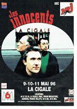 PUBLICITE ADVERTISING 126  1996   les Innocents concert à la Cigale &  radio NRJ