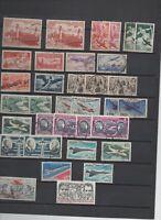 France : 34 timbres  poste aérienne oblitérés