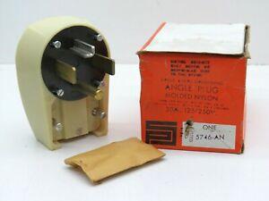 Pass & Seymour 5746-AN Angle Plug 30A 125/250V 3-Pole 4-Wire NEMA 14-30P