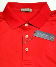 Peter Millar Crown Sport Polo Shirt Mens XL NWT Red