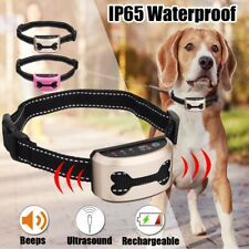 Rechargeable Anti-Bark Dog Training Collar Waterproof Digital Display No Bark