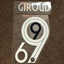 LA FRANCE GIROUD Football Shirt Name Number Set Imprimé Transfert Nameset Cup 2018