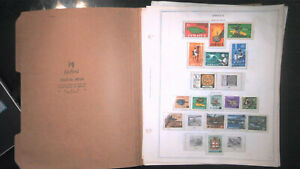 JAMAICA COLLECTION ON ALBUM PAGES, MINT/USED