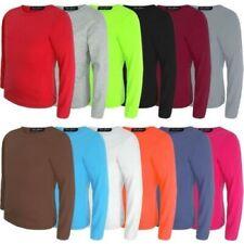 Kinder Uni Basic Top Langärmelig Mädchen Jungen T-Shirt Top Rundhals T-Shirt 3-1