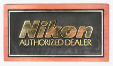 Vintage Nikon Wood & Plastic Sign for Authorized Dealer #2 ........ Very Rare !!