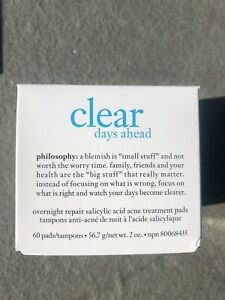 Philosophy Clear Days Ahead Overnight Repair acne treatment 60 pads