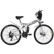 "26"" White Electric Bicycle Bike City E-bike Removable Lithium Battery  36V 350W"