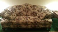 Matching couch, love seat and chair with 4 pillows