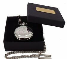 Lest We Forget Poppy Armistice Day Remembrance Customised Custom Pocket Watch
