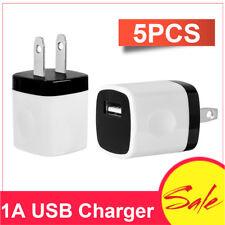 5pcs USB Wall Charger AC Power Adapter US Plug Fits iPhone 7 8 Xs Samsung LG HTC