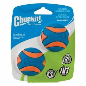 Chuckit Ultra Squeaker Ball - High Visibility - Durable - 2 Pack - Small