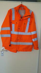 Litz **Warnschutz Regenjacke STR mit Kapuze**Signalorange Gr. XL