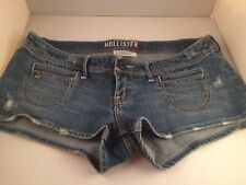 Hollister Low Rise Distressed Stretch Short Shorts Juniors Girls Size 1 Preowned