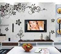 US STOCK Wall Sticker Flower Vine Living Room Lobby Bedroom decal decor