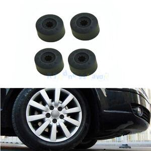 4x #1K0601173A Black Nut Cover Wheel Anti-theft Secret Lock Lug Clip Bolt For VW