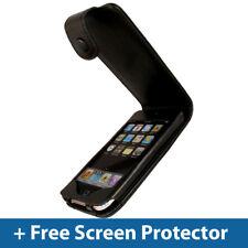 Estuche De Cuero Negro Para Apple Ipod Touch 2nd 3rd Gen 2g 3g Itouch Tapa Soporte