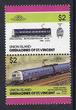 UNION ISLAND LOCO 100 PENN CENTRAL METROLINER RAILCAR USA STAMPS MNH