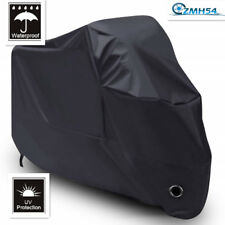 Black Motorcycle Cover Waterproof Outdoor Rain Dust UV Scooter Protector XL