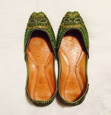 Green Ballerinas Indian Shoes Mojeh Khusseh / Size 6 39