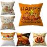 Thanksgiving Cover Sofa Pillow Decorative Pumpkin Throw Pillowcase Cushion