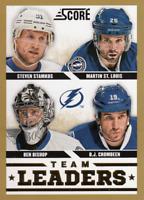 2013-14 Score Hockey Gold #576 Tampa Bay Lightning Team Leaders