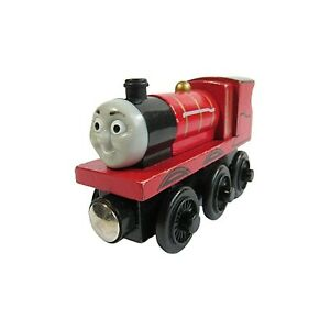 Thomas Train & Friends JAMES Tank Engine Wooden Railway 2003 TOMY Red Magnetic