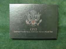 1993-S US Silver Premier Proof Set with Original Box and Certificate