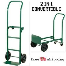 Haper Truks 2 In 1 Convertible Hand Truck And Dolly Steel 400 Lb Capacity