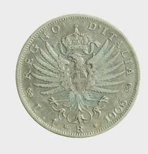 s647_6) Italia Vittorio Emanuele III (1900-1943) lire 1 Aquila Sabauda 1906