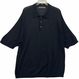 Roberto Villini Studio Men's Short Sleeved Polo Shirt  Black Size 2XL XXL