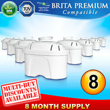 8 x FL402 Compatible Brita Maxtra Water Filter Jug Refill Replacement Cartridge