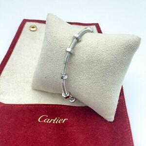 Cartier ECROU DE CARTIER Bangle Bracelet in 18K White Gold - Size17