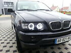 2 FEUX PHARE AVANT ANGEL EYES BMW X5 E53 00-03 ANNEAUX CCFL + XENON
