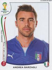 N°320 ANDREA BARZAGLI # ITALIA STICKER PANINI WORLD CUP BRAZIL 2014