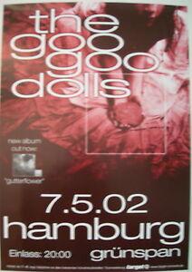 THE GOO GOO DOLLS CONCERT TOUR POSTER 2002 GUTTERFLOWER