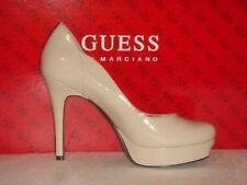 New Guess Pumps By Marciano Shirah Beige Patent Lth 10