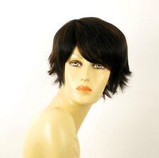 perruque femme 100% cheveux naturel carré méchée noir/cuivré PATRICIA 1b30