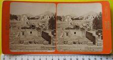 Ercolano ved. generale degli scavi stereophoto G. Brogi di firenze - fine 800