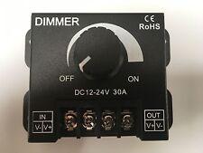 Nuevo Interruptor Regulador Controlador LED 12V 24V 30A para Tira de Luz LED de un solo color