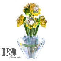 Crystal Sunflowers Figurines Cut Glass Ornaments Paperweights Wedding Home Decor