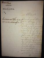 1869 Colonial Spain signed letter Bishop of Havana Jacinto Maria Martínez Sáez