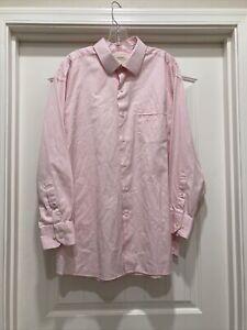 Beautiful Pink Striped Tommy Bahama Long Sleeve Shirt SZ 17 1/2 32-33